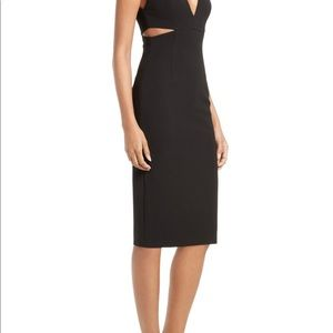 Alice and Olivia Black Fitted Cutout Dress